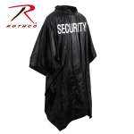 Rothco 3687 Rothco Black Vinyl Poncho - Security