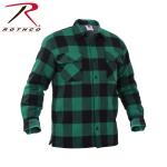 Rothco 3735 Rothco Buffalo Plaid Sherpa Lined Jacket - Green