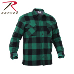 Rothco 3736 Buffalo Plaid Sherpa Lined Jacket - Green