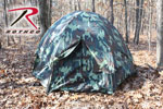 Rothco 3809 Rothco 3-Man Hexagon Dome Tent - Woodland Camo