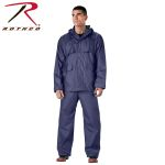 Rothco 3871 3871 Rothco 2-Pc Pvc Coated Nylon Rainsuit-Navy