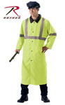 Rothco 3900 Deluxe Reversible Black/Safety Green Reflective Rain Parka