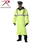 Rothco 3901 3901 Deluxe Reversible Black/Safety Green Reflective Rain Parka