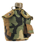 Rothco 40012 Rothco Enhanced Nylon 1qt Canteen Cover - Camo