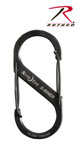 Rothco 403 Black Nite Ize S-Biners - #3 Size, Load Limit 25 Lbs Or 11 Kg