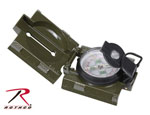 Rothco 416 Rothco Military Marching Compass With Led Light - Olive Drab