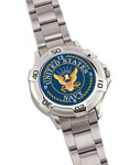 Rothco 4223 *rothco Navy Logo Watch / Chrome