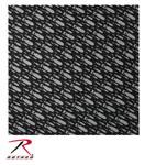 Rothco 4335 Bandana - Black With Bombs Pattern
