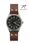 Rothco 4338 Rothco Military Style Watch With Leather Strap