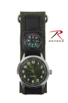 Rothco 4340 Rothco Watch With Compass-Olive Drab