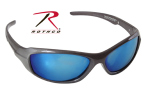 Rothco 4356 Rothco 9mm Sunglasses-Gray Frame/Mirror Lens