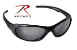 Rothco 4357 Rothco 9mm Sunglasses-Black Frame/Smoke Lens