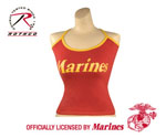 Rothco 4376 Womens Red ''marines'' Booty Shorts And Women's Red ''marines'' Tank Top