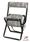 Rothco 4378 Deluxe ACU Digital Camo Stool With Pouch-Back