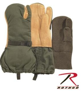 Rothco 4393 Used Gi Leather Trigger Finger Mittens w/Liner M