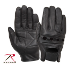 Rothco 4418 Rothco Black Leather Motorcycle Gloves