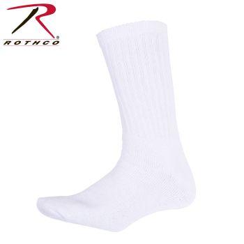 Rothco 4439 White Crew Socks-King Size