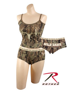 Rothco 4485 Womens Smokey Branch 'wild Game' Tank Top<br>3485 Womens Smokey Branch 'wild Game' Booty Short