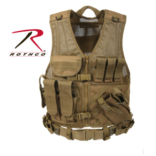 Rothco 4491 Rothco Tactical Cross Draw Vest - Coyote