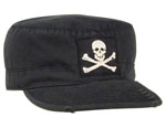 Rothco 4529 Vintage Black ''jolly Roger'' Fatigue Cap