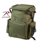 Rothco 4568 Olive Drab Backpack & Stool Combination