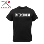 Rothco 4614 4614 Rothco 2-Sided T-Shirt / Enforcement- Black