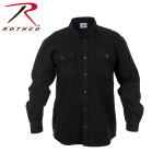 Rothco 4637 Rothco Heavy Weight Flannel Shirt - Black
