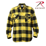 Rothco 4649 Rothco Heavy Weight Plaid Flannel Shirt - Yellow