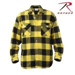 Rothco 4650 Rothco Hw Plaid Flannel Shirt - Yellow