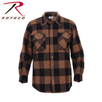 Rothco 4667 Rothco Heavy Weight Plaid Flannel Shirt - Brown