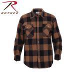 Rothco 4668 Rothco Hw Plaid Flannel Shirt - Brown