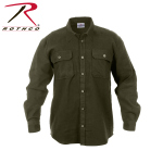 Rothco 4669 Rothco Heavy Weight Flannel Shirt - Olive Drab