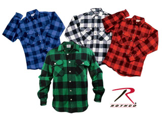 Buy flannel shirts - Rothco 4739 Extra Heavyweight Brawny Flannel Shirts