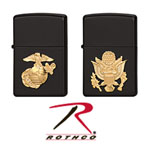 Rothco 4847 Black Military Crest Zippo Lighter