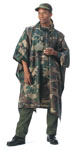 Rothco 4858 Woodland Camouflage Rip-Stop Poncho