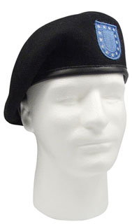 Rothco 4919 'Inspection Ready'' Black Beret w/Flash