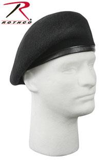 Rothco 4949 'Inspection Ready'' Beret - Black - No Flash