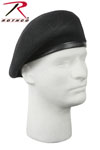 Rothco 4949 'Inspection Ready'' Beret - Black - No Flash