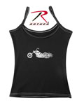 Rothco 4975 Women's Black ''biker Booty'' Booty Shorts And <br> Black ''biker'' Casual Tank Top