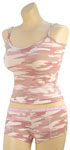 Rothco 4976 Women's Baby Pink Camo ''booty Camp'' Booty Shorts And <br> Women's Baby Pink Camo Tank Top
