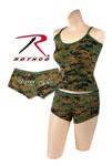 Rothco 4977 Women's Woodland Digital ''booty Camp'' Shorts And<br> Women's Woodland Digital Tank Top