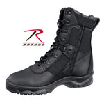 "Rothco 5053 Rothco Forced Entry Tactical Boot With Side Zipper / 8"" - Black"