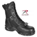 "Rothco 5063 Rothco Forced Entry Composite Toe Tactical Boot With Side Zipper / 8"" - Black"