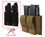 Rothco 51001 Rothco Double Pistol Mag Pouch w/Insert - Molle