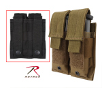 Rothco 51002 Rothco Double Pistol Mag Pouch - Molle