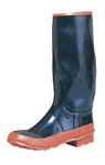 "Rothco 5117 Rothco Rubber Rain Boot / 15.5"" - Black With Red Sole"