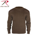 Rothco 5416 5416 Rothco Acrylic Commando Sweater - Brown