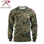 Rothco 5495 5495 Rothco Long Sleeve T-Shirt / Woodland Digital Camo