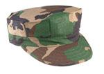 Rothco 5633 Woodland Camo 100% Cotton Rip-Stop Marine Corps Cap - No Emblem