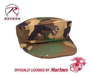Rothco 5635 Woodland Camo Poly/Cotton Marine Corps Cap w/Emblem